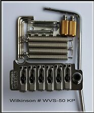 Wilkinson WVS 50 II K for Stratocaster guitar tremolo with zinc saddles.