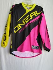 ONEAL racing Womens ladies motocross jersey LARGE 0024-714 blk/pnk