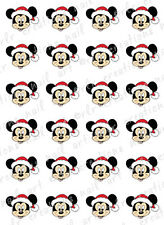20 DISNEY CHRISTMAS NAIL DECALS * MICKEY MOUSE SANTA *  WATER SLIDE NAIL DECALS