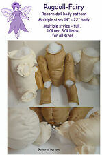 """reborn doll body SEWING PATTERN 14"""" to 22"""" for any length of disc jointed limbs"""