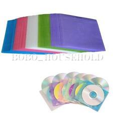 Lot 100 pochettes CD DVD housse de protection étui rangement fenêtre plastique