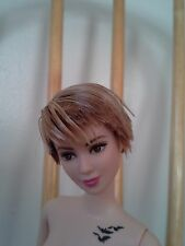 NEW Barbie Doll Insurgent Tris Divergent Short Hair NUDE DOLL MUSE stand C.O.A.