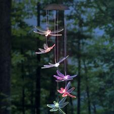 Outdoor Color Changing Bright LED Light Solar Power Dragonfly Mobile Light
