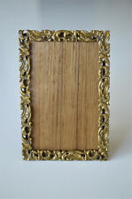 Original Victorian small gilded brass photograph frame photo frame stand