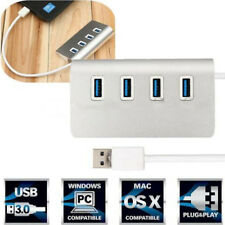 4 Ports USB 3.0 Aluminum Hub Splitter Adapter High Speed Cable for PC Mac Laptop