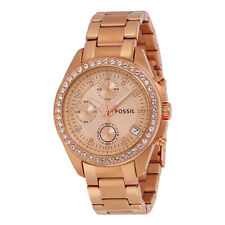 Fossil Decker Chronograph Rose Gold-tone Bracelet Ladies Watch ES3352