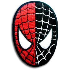 Spiderman Head Super Hero Cartoon Patch  Iron on Applique Embroidered Badge Mask