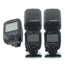 2 X Yongnuo YN600EX-RT Flash + YN-E3-RT Radio Transmitter Set for Canon
