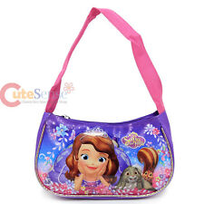 Disney Sofia The First Kids Hand Bag Shoulder Girls Purse Pink Purple Floral