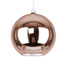 Modern Round Copper Glass Ball Ceiling Pendant Light Lamp Shade Lights Shades