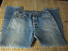 vtg Faded LEVI'S 501XX button fly HIGE whiskers JEANS label 40x34 FIT 37 x 30-31