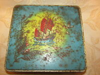 Large Vintage Collectable C.W.S. Biscuits Tin Box