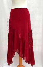 Per Una Red Skirt Size 14 R Formal Evening party Cruise Marks & Spencer 165