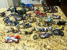 Huge 19 Motorcycles Die Cast West Coast Choppers WCC Harley Davidson Yamaha lot