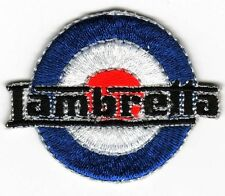 Iron On/ Sew On Embroidered Patch Badge MOD Italian Scooter Lam Target Roundal