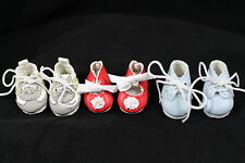 LOT OF THREE DOLL SHOES  FOR POLYMER CLAY OOAK BABIES S0238LG,S0240R,S0241B