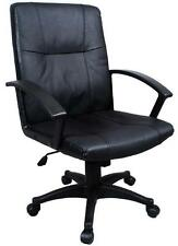 New Black Ergonomic Executive Leather Office Chair Computer Desk Task Hydraulic