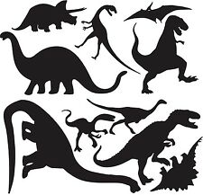 DINOSAURS Set Vinyl Wall Decals Children Play Boys Room Decor Lettering Words