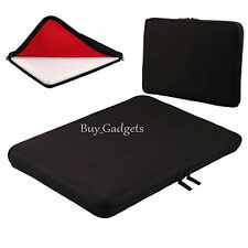"13"" BLACK NEOPRENE LAPTOP NOTEBOOK SLEEVE CASE FOR ACER HP SONY APPLE DELL"