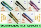 2 Capacitive Touch Screen Stylus Pen ipad 2 3 4 iphone 4 5 g s ipod Samsung mult