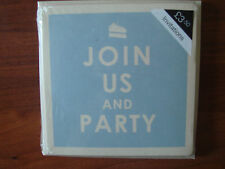 10x Blue Join Us & Party Marks & Spencer Invitations & Envelopes  RRP £3.50