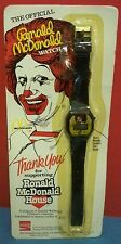 Vintage 1984 The Official Ronald McDonald Watch Made in Hong Kong Needs Battery