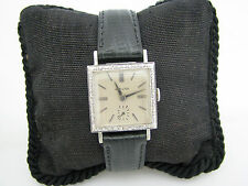 Handsome Vintage 1960's Hamilton Watch in 14k White Gold with Diamond Bezel