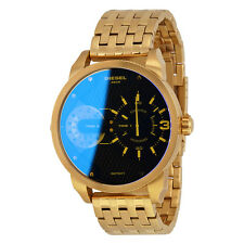 Diesel Little Daddy Dual Time Dial Gold-tone Mens Watch DZ7341