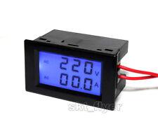 Black 100A 300V AC Digital Ammeter Volt Meter LCD Panel Amp Voltmeter 110V 220V