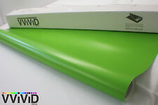 3M x 1.52M Matte Satin Lime Green Cast Vinyl Bubble-Free Film Wrap MLG6M01