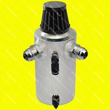 Polished Oil Catch Can Tank Optional AN12 AN10 AN8 AN6 Inlets + Breather Filter