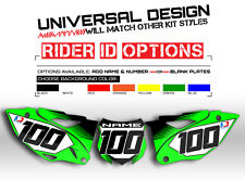 2013-2016 KAWASAKI KXF 250 CUSTOM NUMBER PLATE BACKGROUNDS MOTOCROSS DECALS