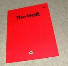 Volkswagen VW Golf Mk2 Brochure 1985 - C CL GL GTI 3 & 5 door