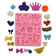 3D Silicone Crown Christmas Fondant Cake Mold Decorating Chocolate Baking Tool