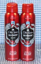 2 Old Spice Refresh Red Zone Collection WOLFTHORN Body Spray (3.75 oz)