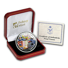 2007 Isle of Man Silver 1 Crown Three Little Pigs Proof - SKU #53650