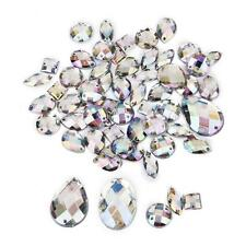 50pcs Mixed Rhinestone Crystal Sewing Buttons Curtain Beads Crafts Colorful