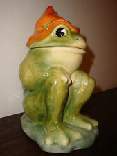 HILLBILLY FROG Cookie Jar Jr. ceramic brush mccoy pottery company replica retro