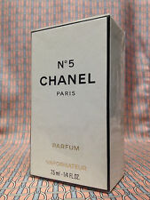 Vintage 1980s Chanel No 5 Pure Parfum 1/4 oz 7.5 ml Refillable Spray OLD FORMULA