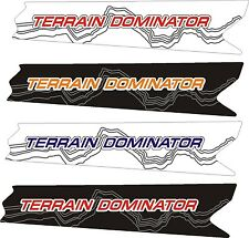 POLARIS RUSH PRO RMK terrain dominator ASSAULT 144 155 163 TUNNEL DECAL 2015 1