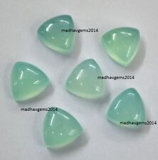 10 PIECES LOT ! AQUA CHALCEDONY 6X6 MM TRILLION LOOSE GEMSTONE CALIBRATED CABS