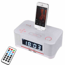 NFC Bluetooth Speaker FM Radio Dock for iPhone 6S 6 Plus 5s 5 with Snooze Clock