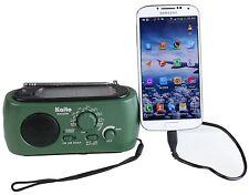 Emergency Preparedness Solar AM/FM/NOAA Weather radio w/ Phone Charger