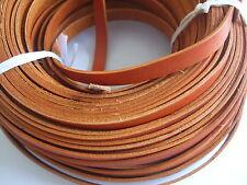 2 Meters 10mm Flat Brown Genuine Real Leather Cord