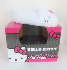 NWT Hello Kitty Women Sherpa Moccasin Slippers M, Size 9-10, Color White & Pink