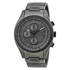 Armani Exchange Chronograph Grey Violet-tinted Dial Gunmetal Ion-plated Mens