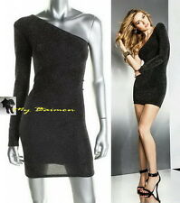 GUESS $148 StunNing!! Black Multi One-Shoulder Sparkle Party Dress  M *NWT