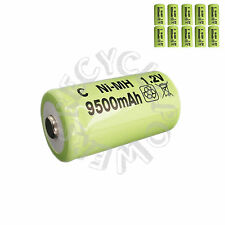 10 pcs C Size 9500mah Ni-MH 1.2V Rechargeable Battery Cell green