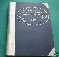 EXLIBRIS libro arte grafico 1908 vol .18 fascicolo 1-4 EXLIBRIS-CLUB NOUVEAU
