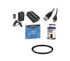 Accessory Kit for Sony DCR-DVD505 DVD505E DCR-DVD510 DVD510E DCR-DVD602 DVD602E